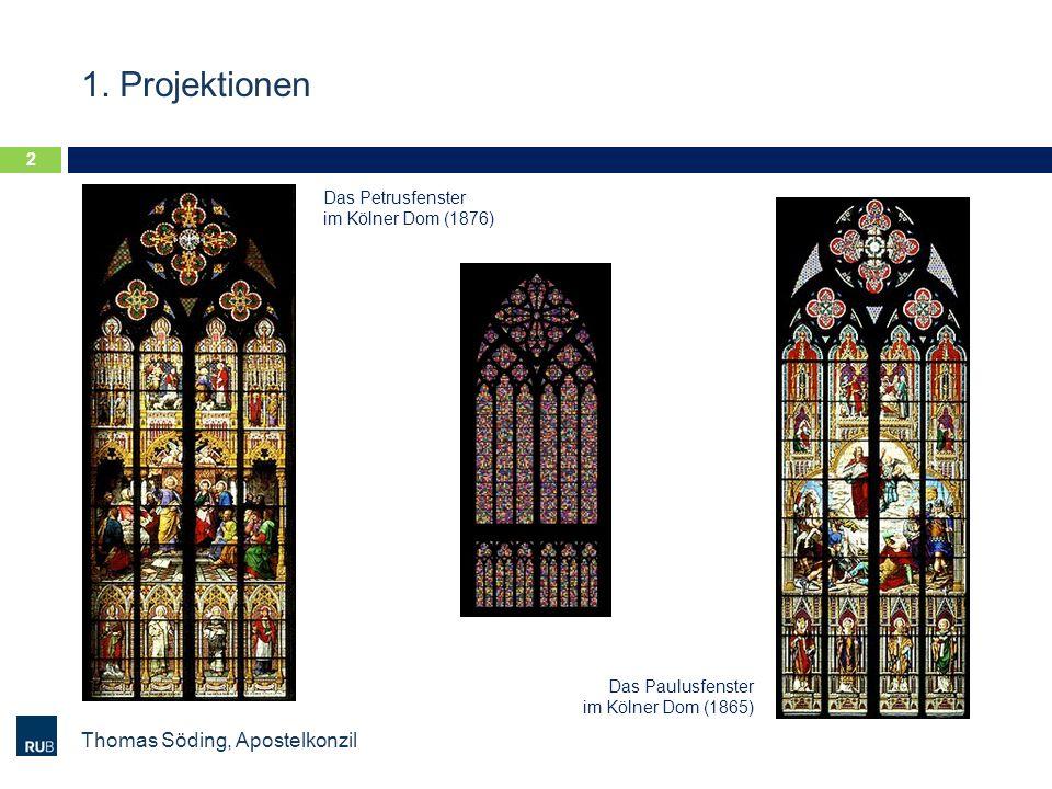 1. Projektionen Thomas Söding, Apostelkonzil Das Petrusfenster