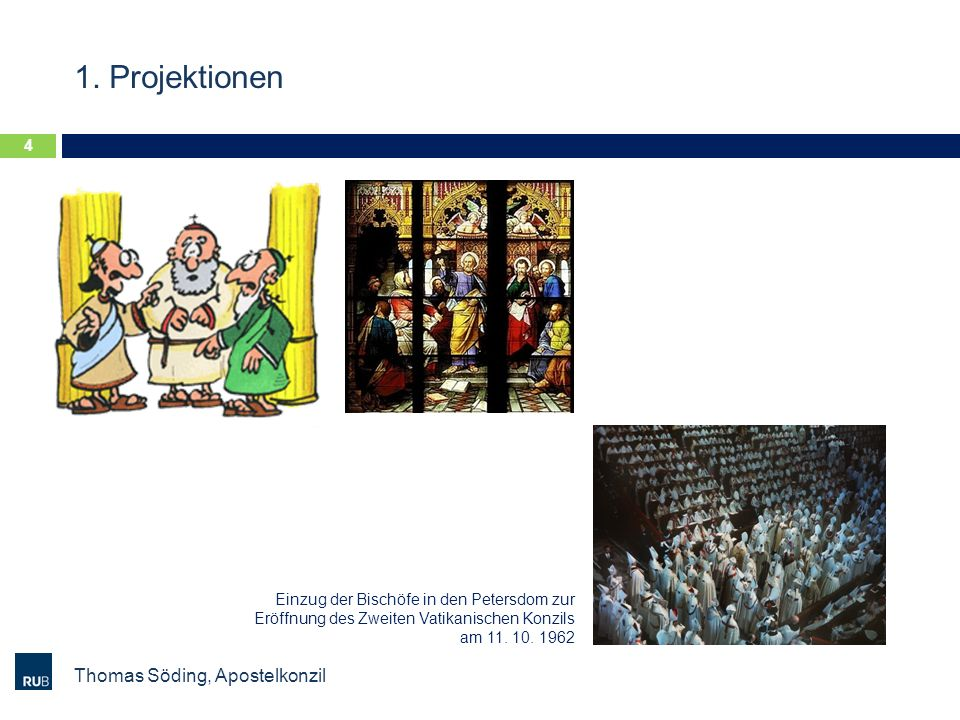 1. Projektionen Thomas Söding, Apostelkonzil
