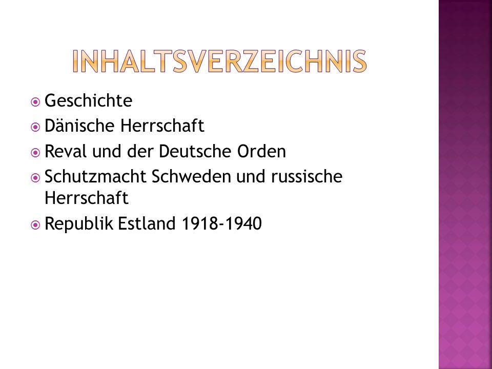 Inhaltsverzeichnis Geschichte Dänische Herrschaft