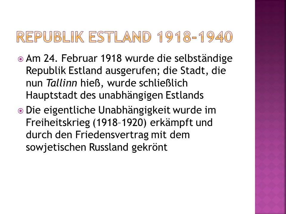 Republik estland 1918-1940