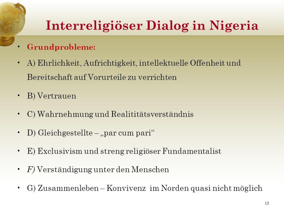 Interreligiöser Dialog in Nigeria