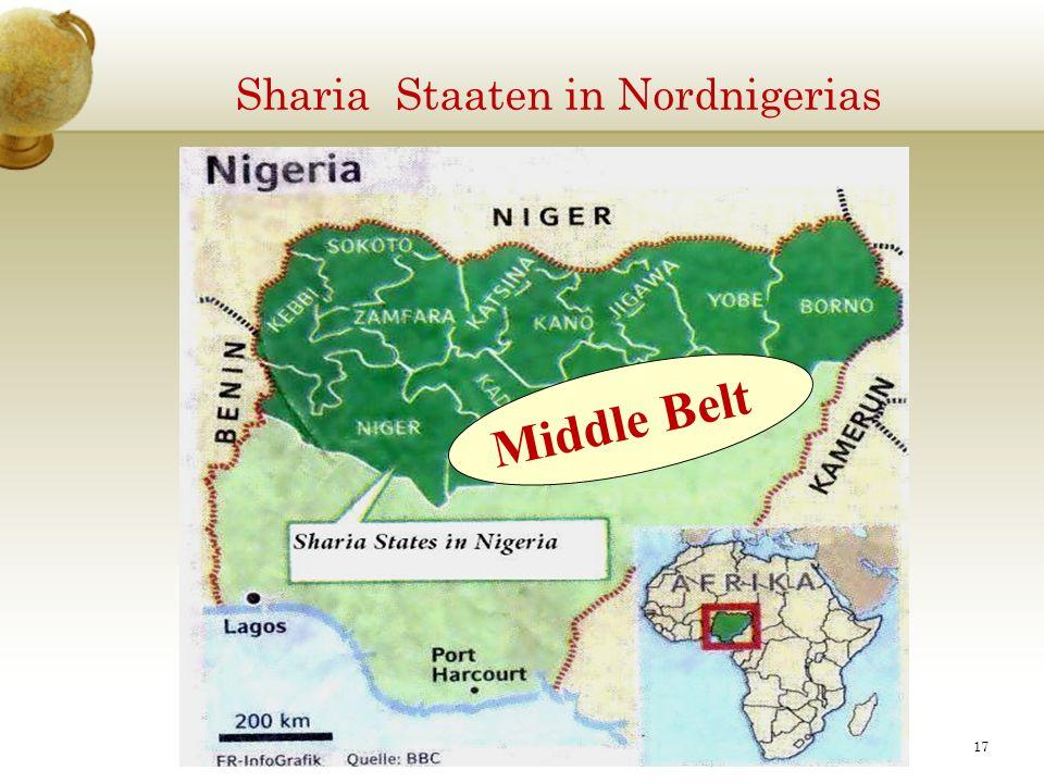 Sharia Staaten in Nordnigerias