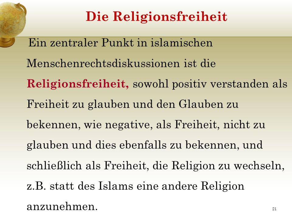 Die Religionsfreiheit