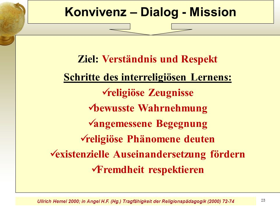 Konvivenz – Dialog - Mission