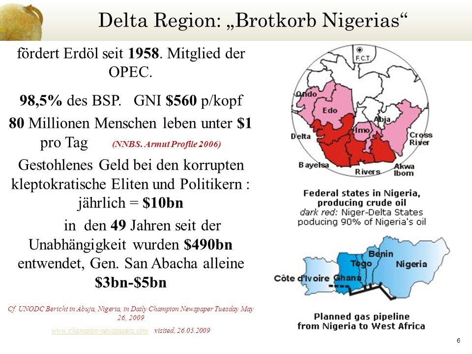 """Delta Region: """"Brotkorb Nigerias"""