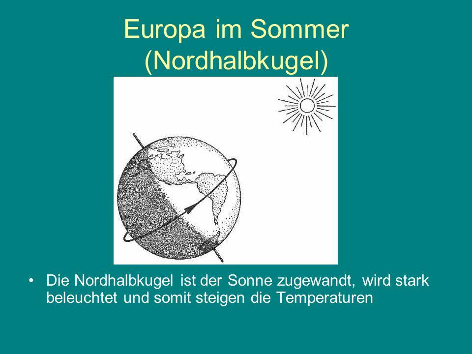Europa im Sommer (Nordhalbkugel)