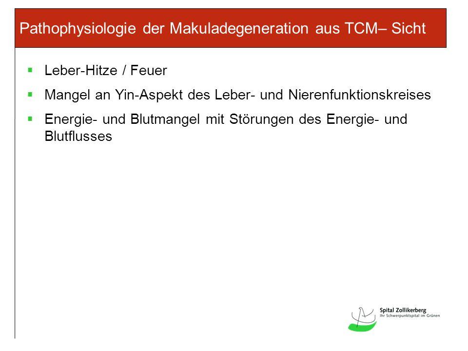 Pathophysiologie der Makuladegeneration aus TCM– Sicht