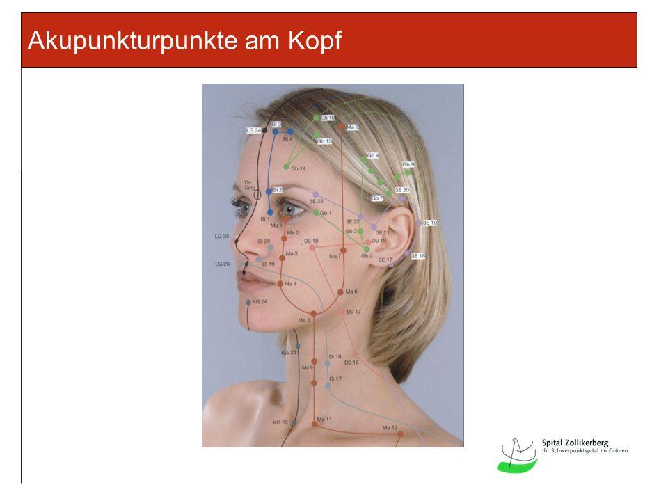 Akupunkturpunkte am Kopf