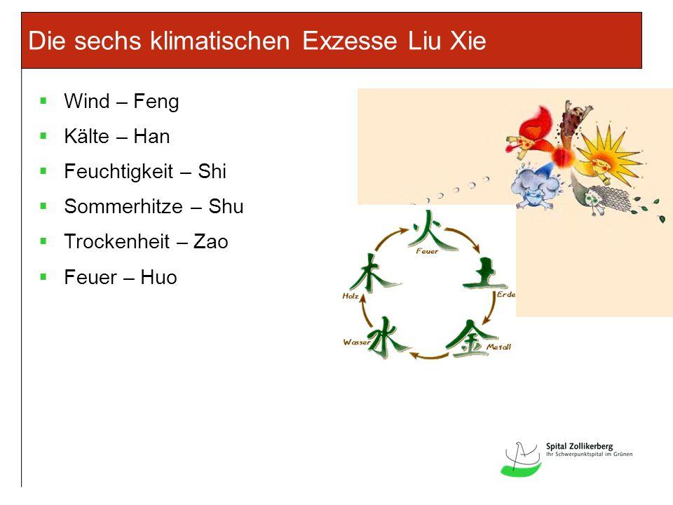 Die sechs klimatischen Exzesse Liu Xie