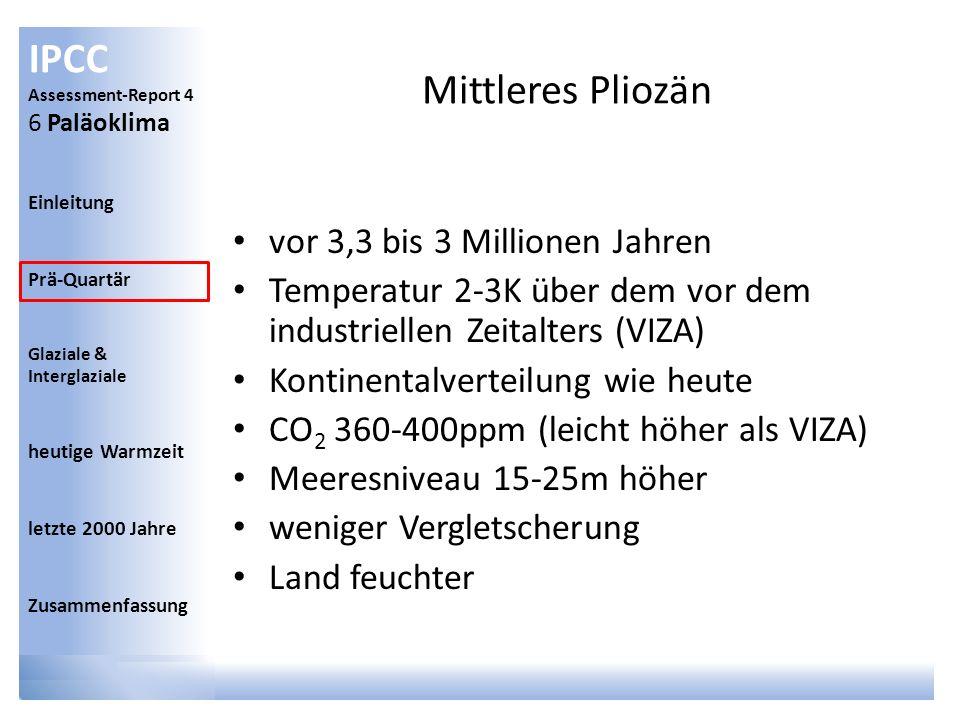 Mittleres Pliozän vor 3,3 bis 3 Millionen Jahren
