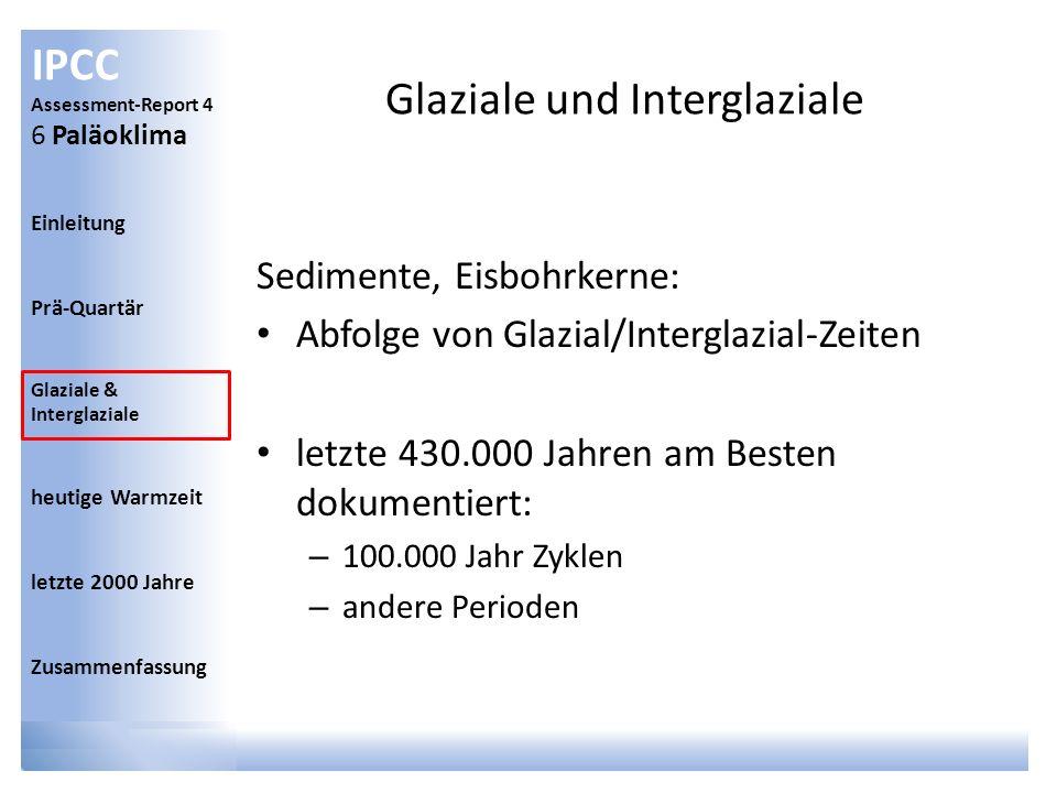 Glaziale und Interglaziale