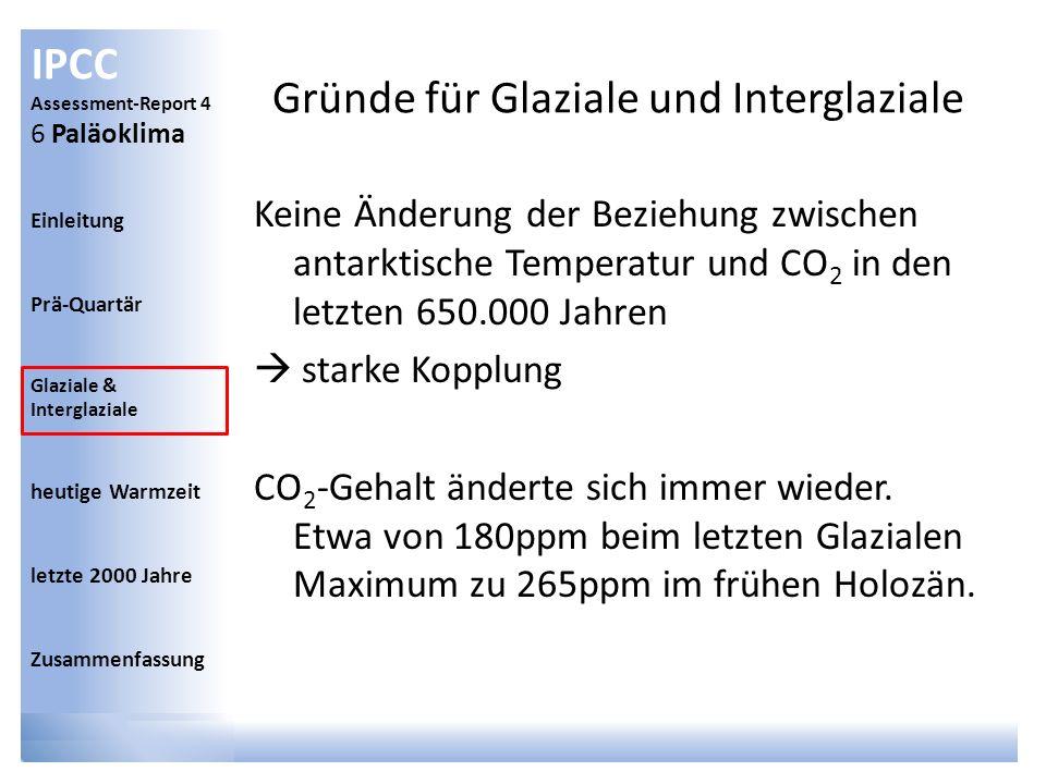 Gründe für Glaziale und Interglaziale