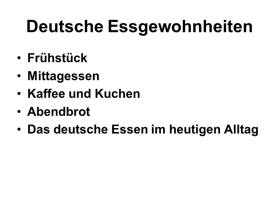 Deutsche Essgewohnheiten