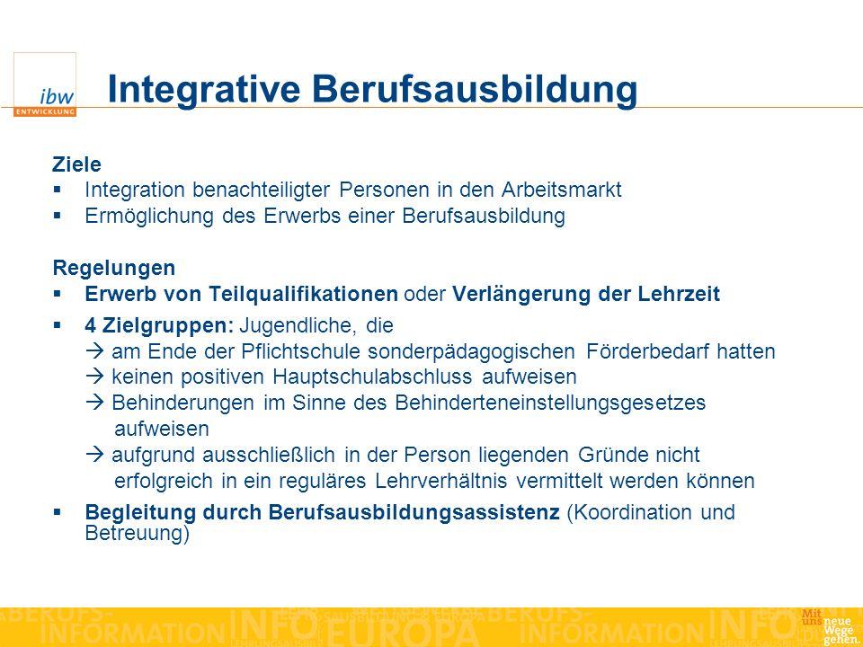 Integrative Berufsausbildung