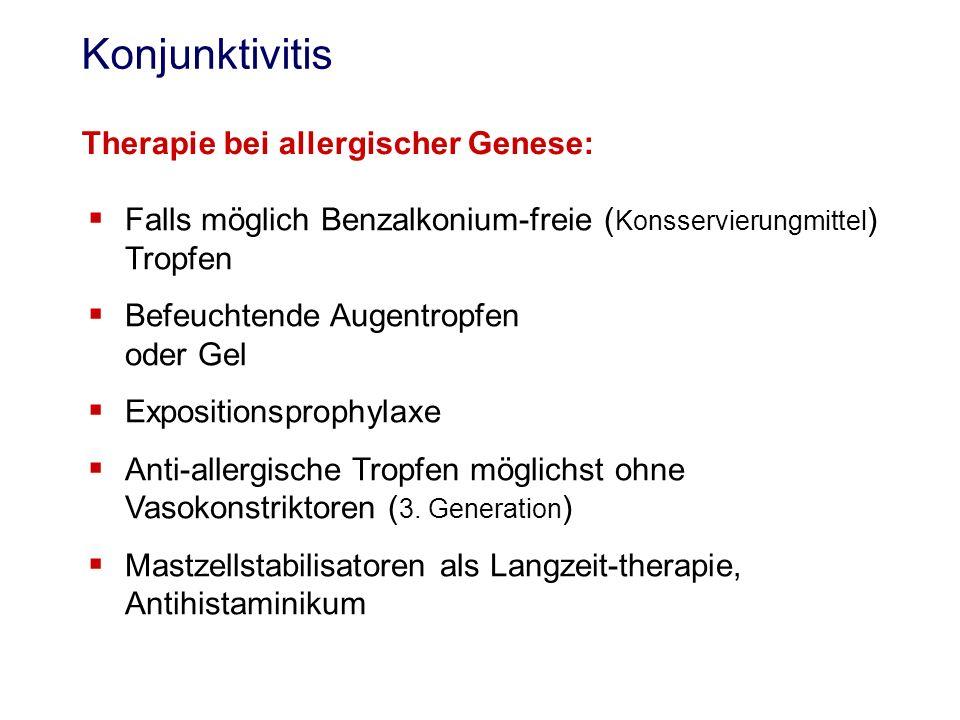 Konjunktivitis Therapie bei allergischer Genese: