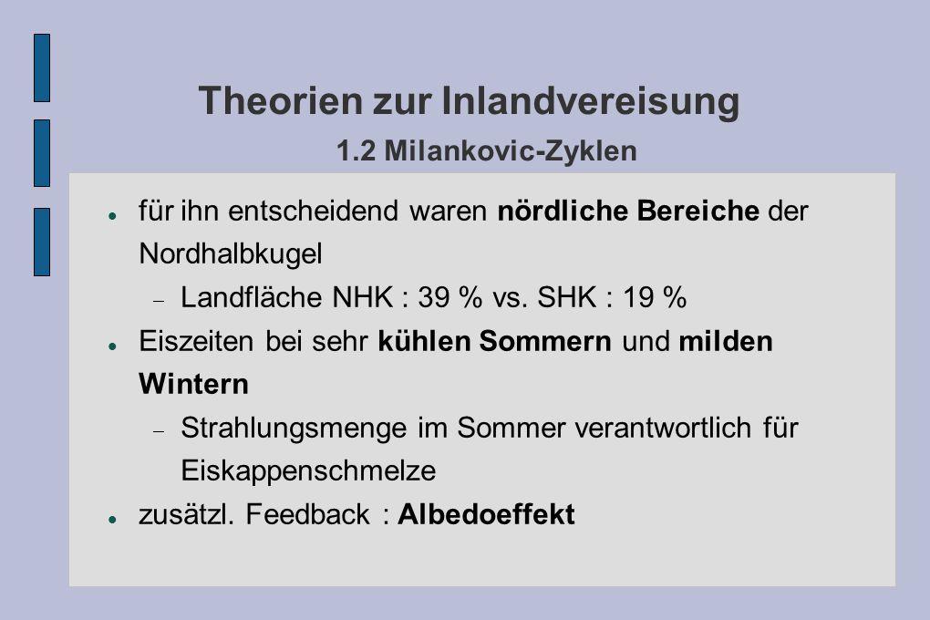 Theorien zur Inlandvereisung 1.2 Milankovic-Zyklen