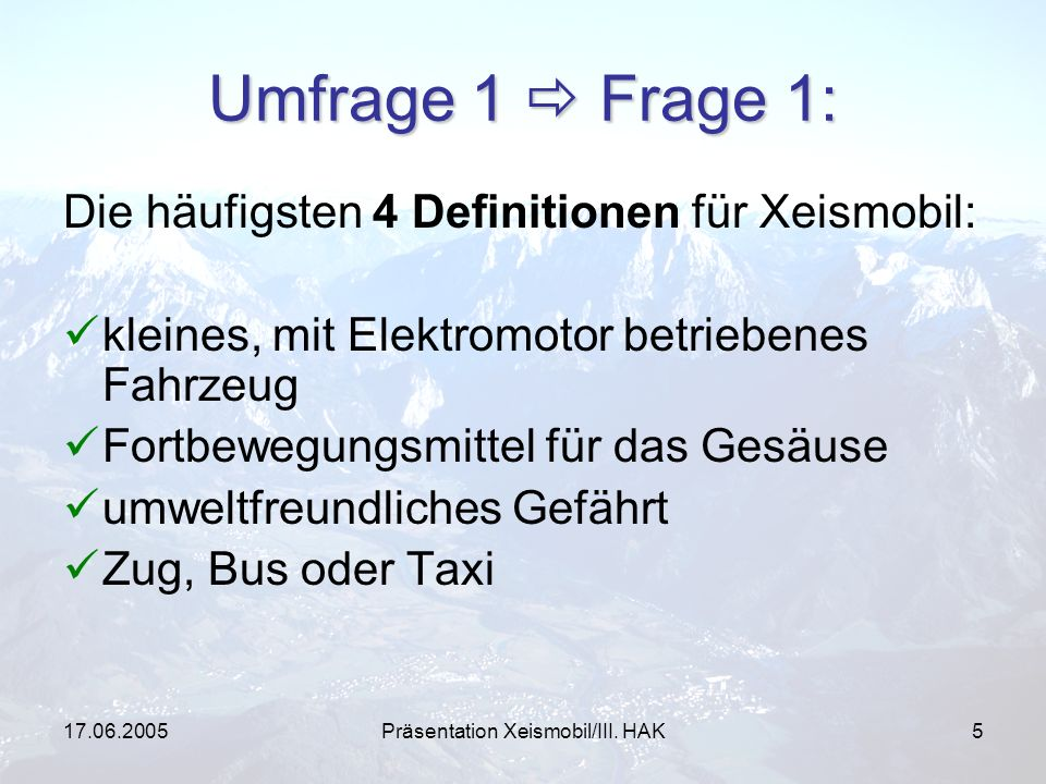 Präsentation Xeismobil/III. HAK