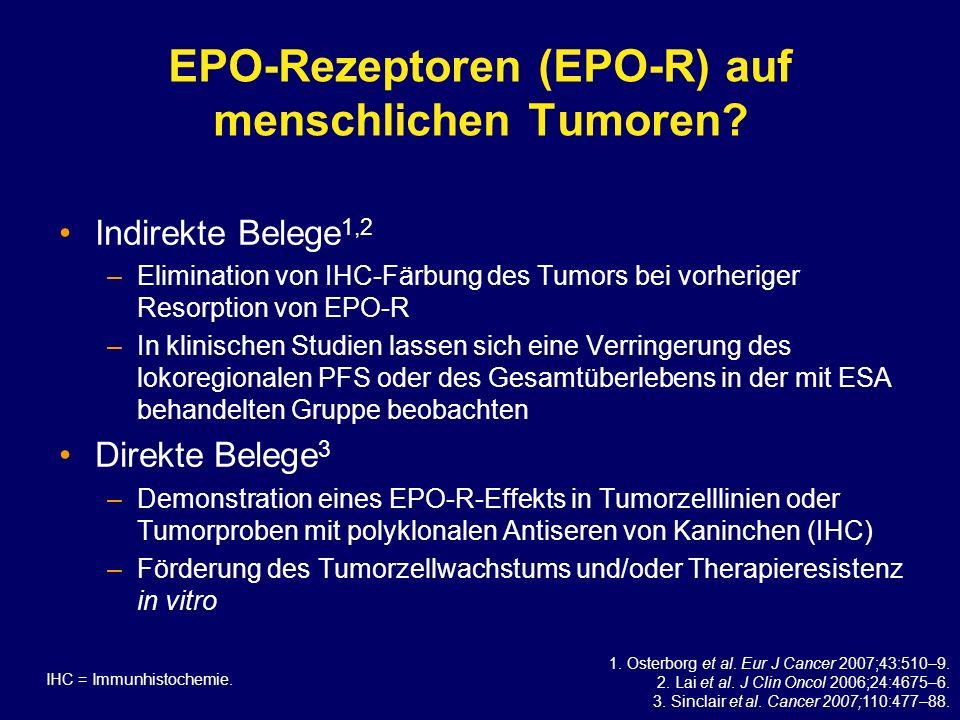EPO-Rezeptoren (EPO-R) auf menschlichen Tumoren