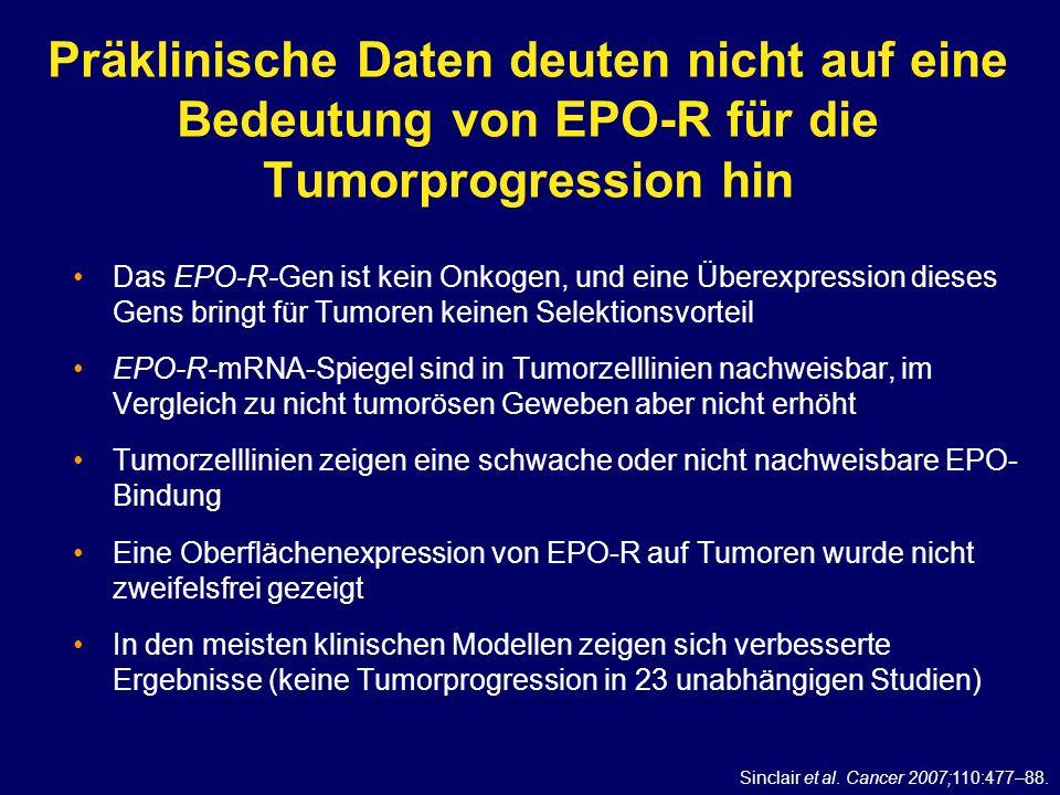Präklinische Daten deuten nicht auf eine Bedeutung von EPO-R für die Tumorprogression hin
