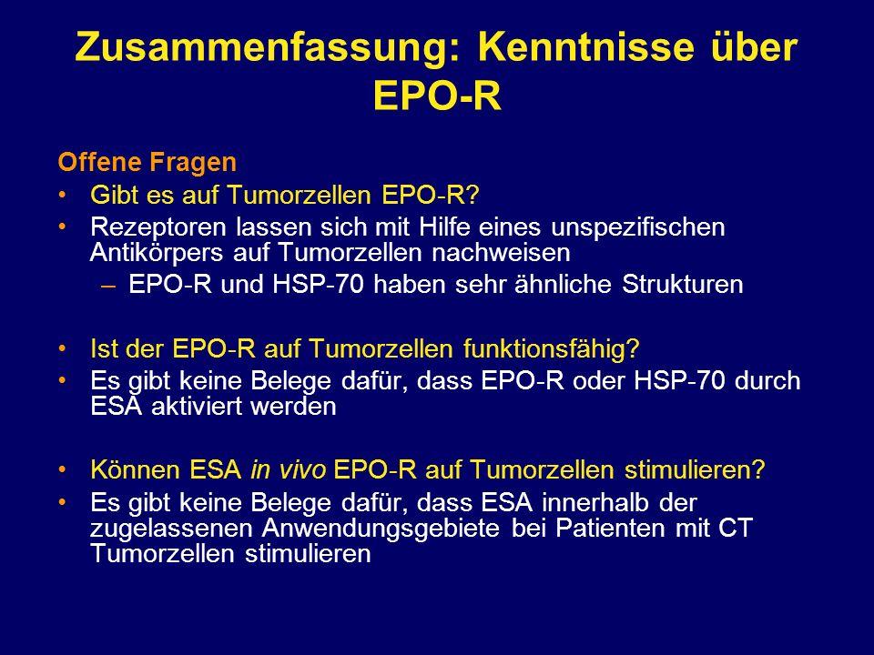 Zusammenfassung: Kenntnisse über EPO-R