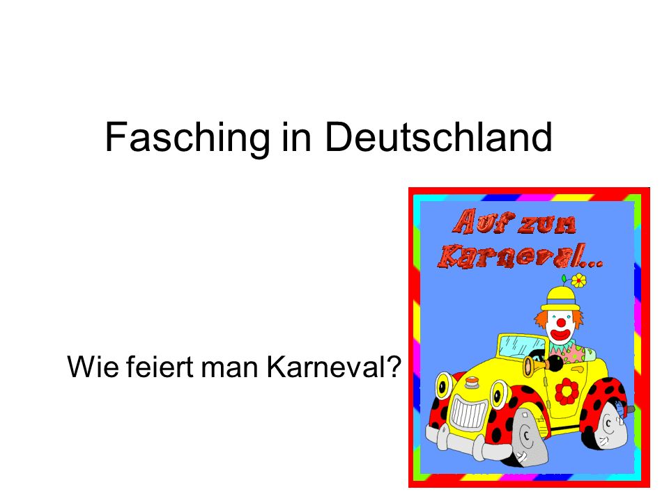 Fasching in Deutschland