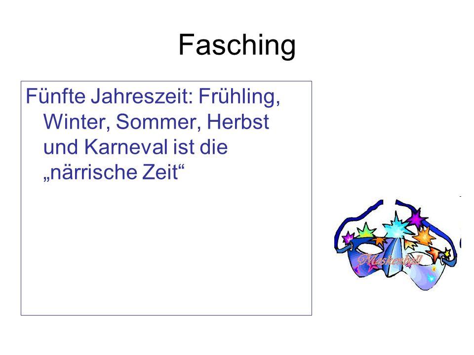 """Fasching Fünfte Jahreszeit: Frühling, Winter, Sommer, Herbst und Karneval ist die """"närrische Zeit"""