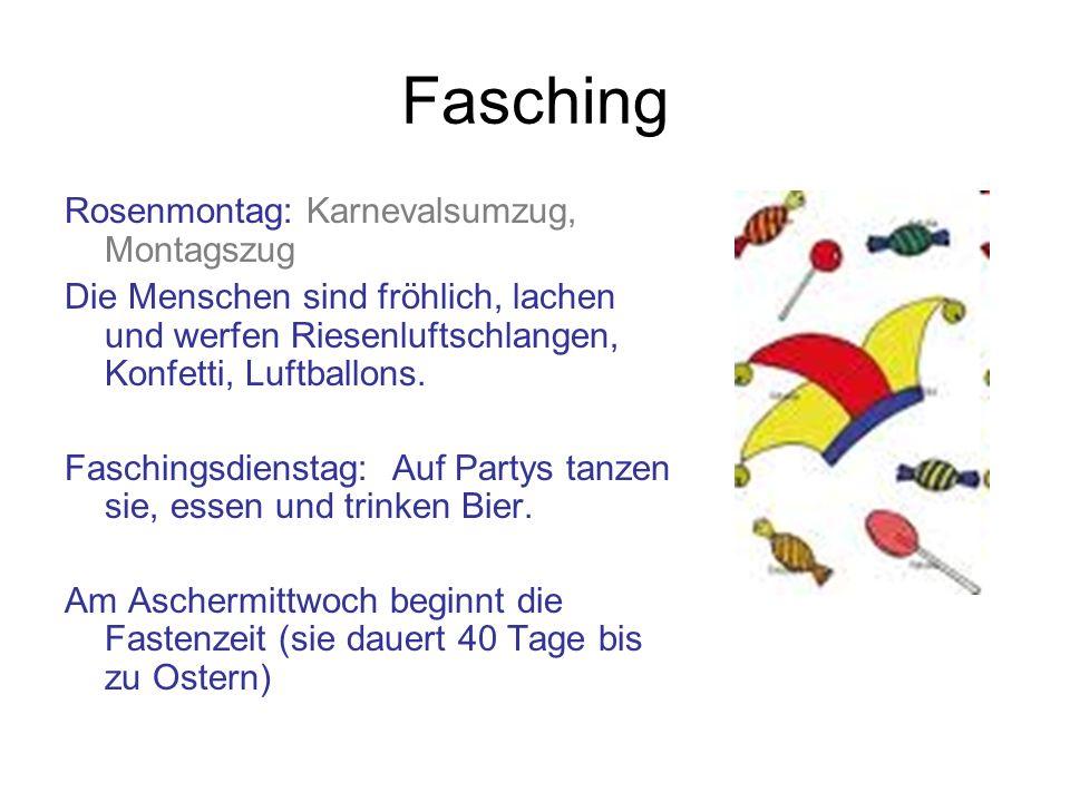Fasching Rosenmontag: Karnevalsumzug, Montagszug