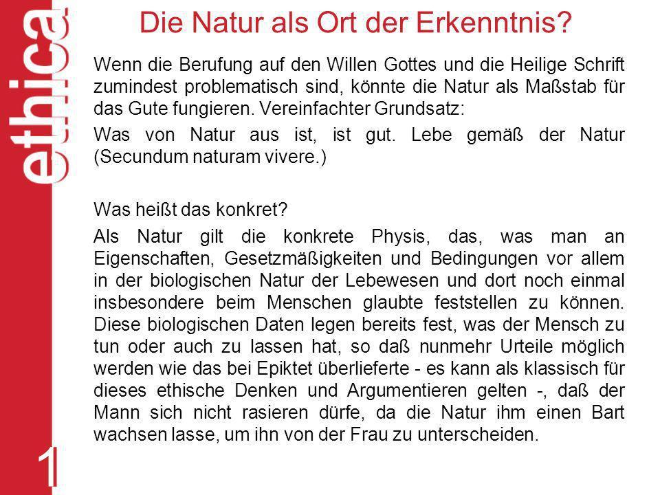Die Natur als Ort der Erkenntnis