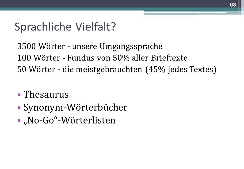 Sprachliche Vielfalt Thesaurus Synonym-Wörterbücher