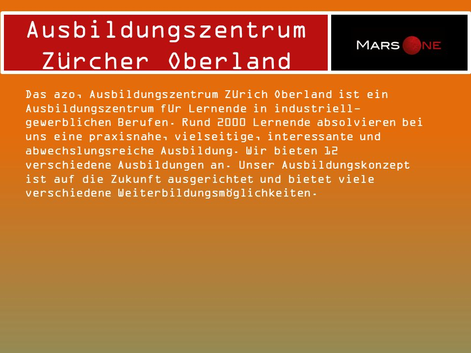 Ausbildungszentrum Zürcher Oberland