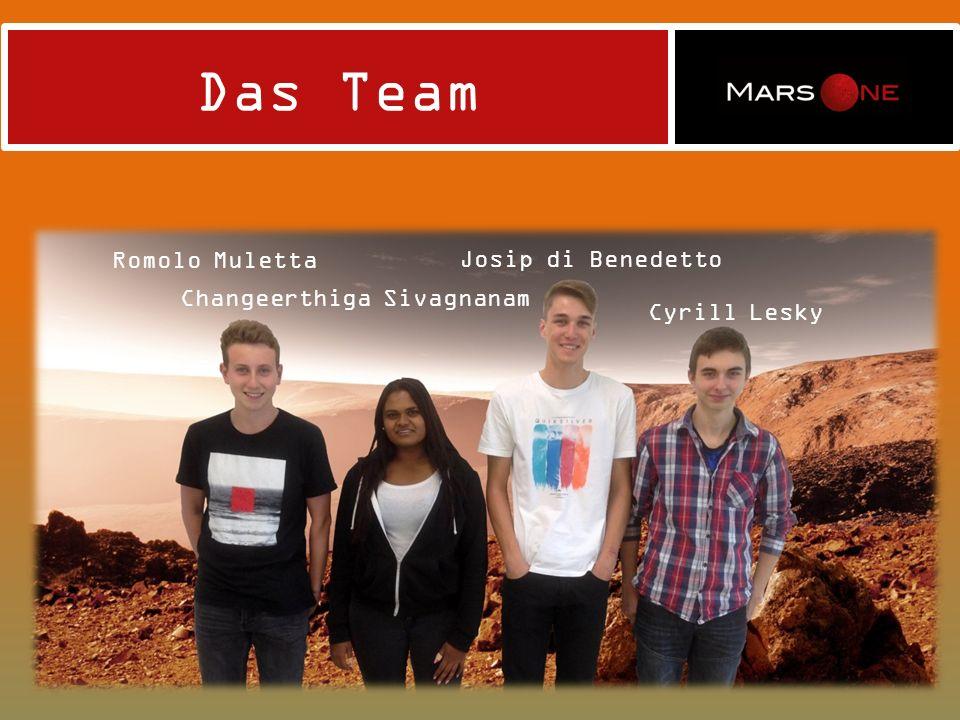 Das Team Romolo Muletta Josip di Benedetto Changeerthiga Sivagnanam