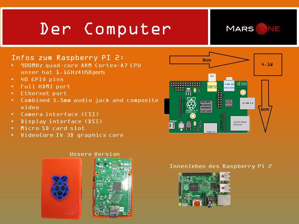 Der Computer Infos zum Raspberry PI 2: