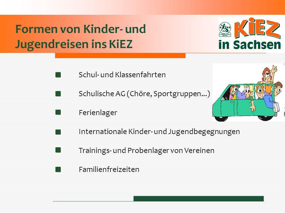 Formen von Kinder- und Jugendreisen ins KiEZ