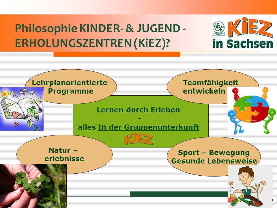 Philosophie KINDER- & JUGEND - ERHOLUNGSZENTREN (KiEZ)