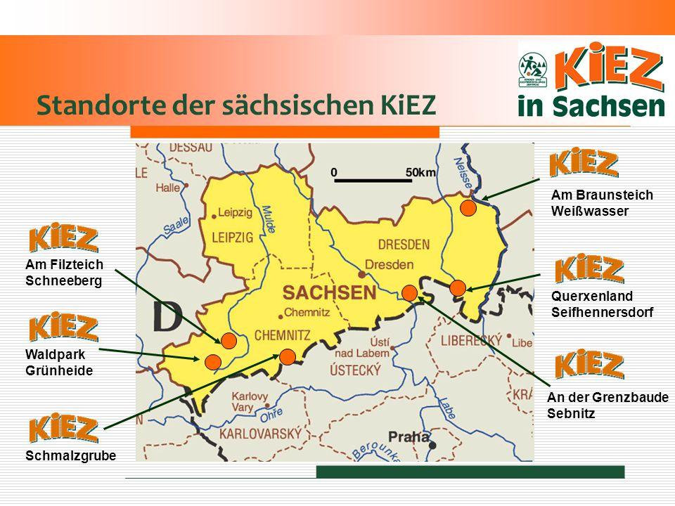 Standorte der sächsischen KiEZ