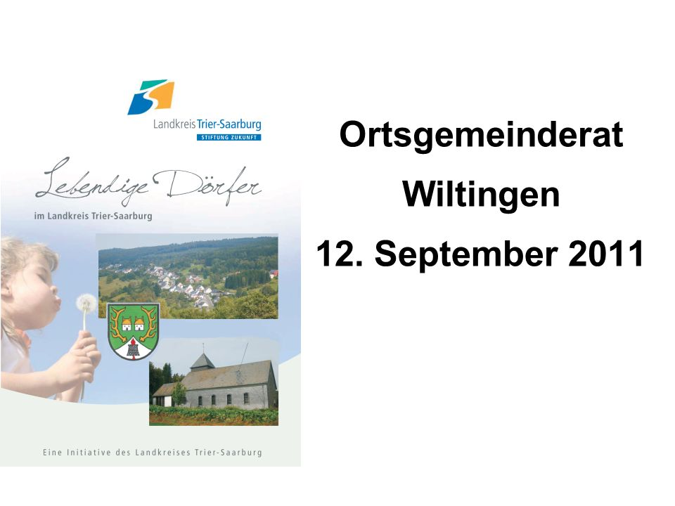 Ortsgemeinderat Wiltingen 12. September 2011