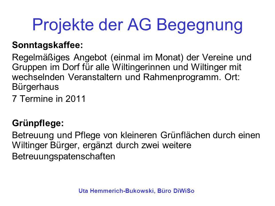 Projekte der AG Begegnung