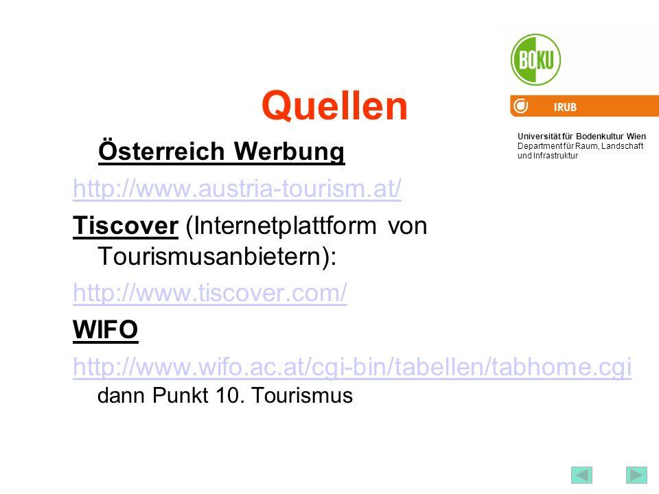 Quellen Österreich Werbung http://www.austria-tourism.at/