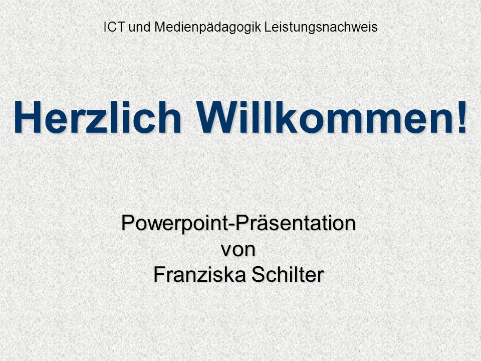 ICT und Medienpädagogik Leistungsnachweis