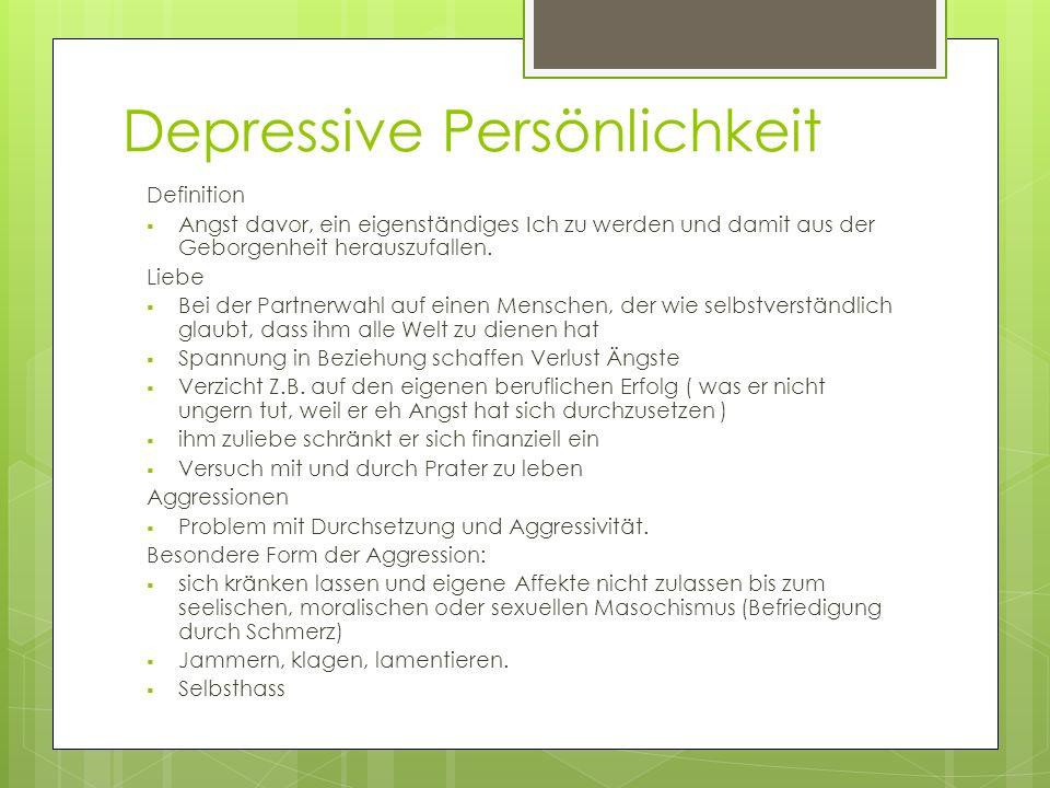 Depressive Persönlichkeit