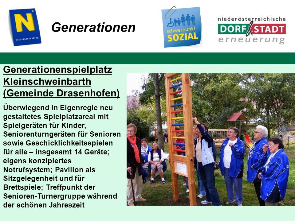 Generationen Generationenspielplatz Kleinschweinbarth (Gemeinde Drasenhofen)