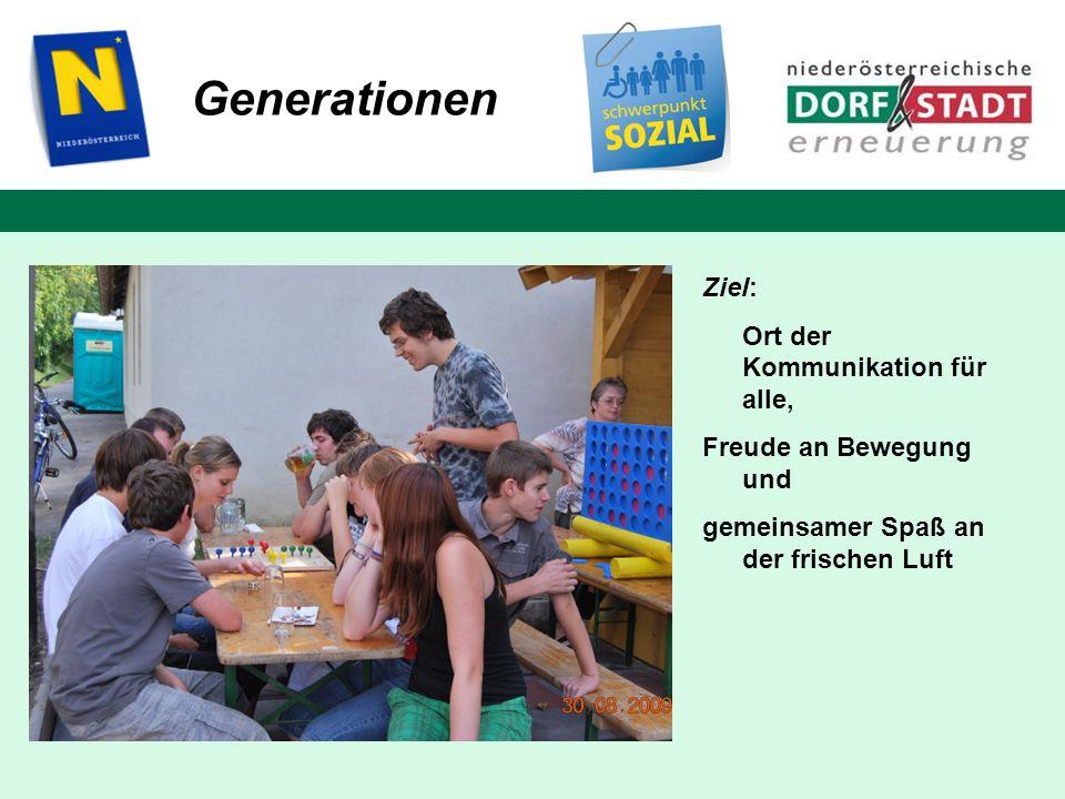 Generationen Ziel: Ort der Kommunikation für alle,