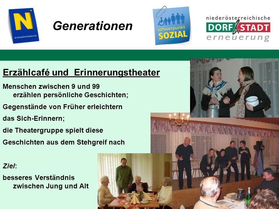 Generationen Erzählcafé und Erinnerungstheater