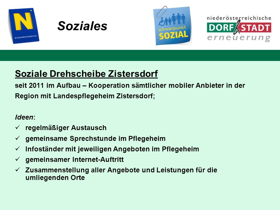 Soziales Soziale Drehscheibe Zistersdorf