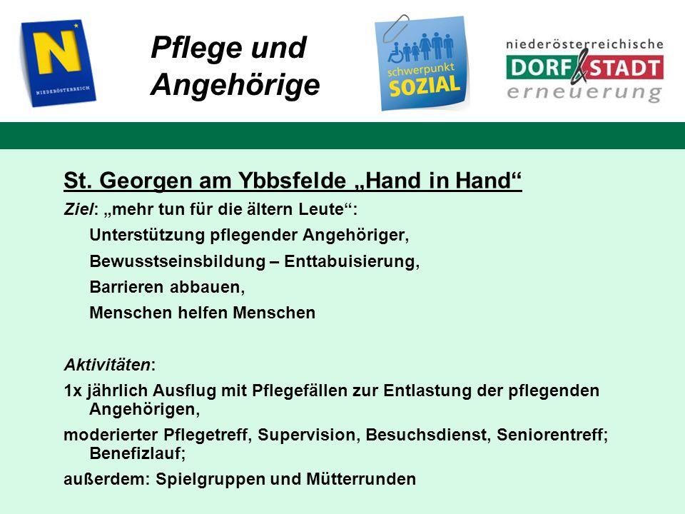 """Pflege und Angehörige St. Georgen am Ybbsfelde """"Hand in Hand"""
