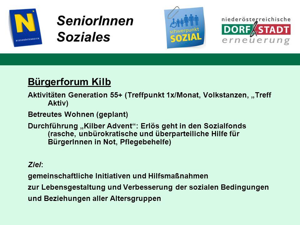 SeniorInnen Soziales Bürgerforum Kilb