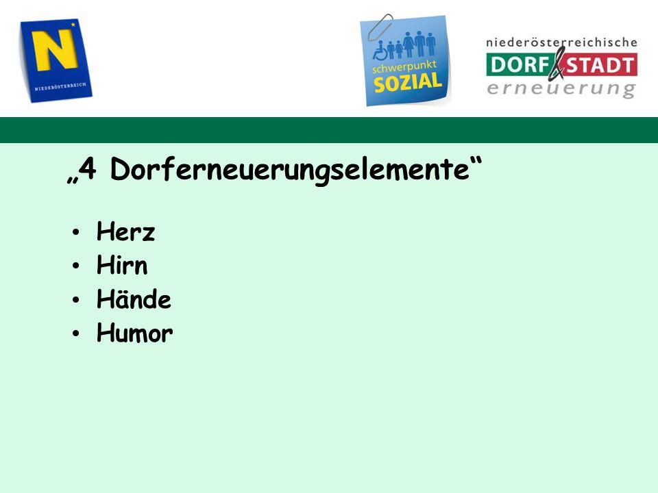 """4 Dorferneuerungselemente"