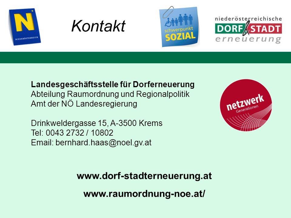 Kontakt www.dorf-stadterneuerung.at www.raumordnung-noe.at/