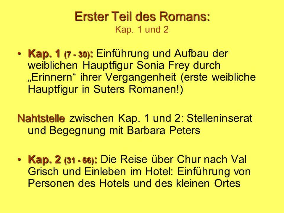 Erster Teil des Romans: Kap. 1 und 2