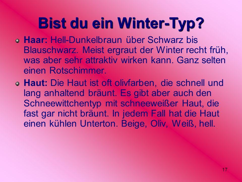 Bist du ein Winter-Typ